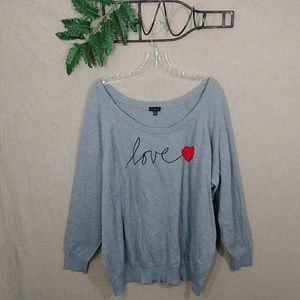 "Torrid ""love"" sweater Size 4x"